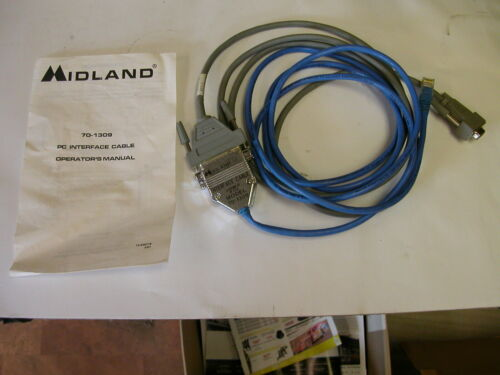 Midland Titan / Bantam VHF  UHF Radio Programming Cable Interface Cable 70-1309