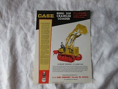 Case 310f Crawler Loader Specification Sheet Brochure