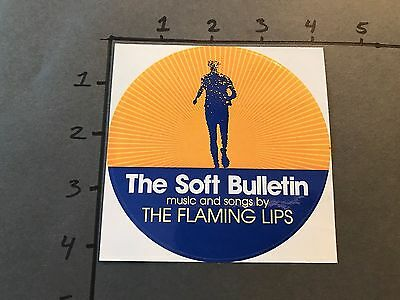 "The Flaming Lips Soft Bulletin Sticker Circle Promo 4"" RARE PROMOTIONAL STICKER"
