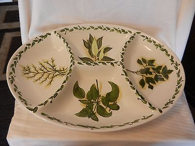 Botanical Herbs Divided in 4 Appetizer Serving Tray from Tabletops Unlimited