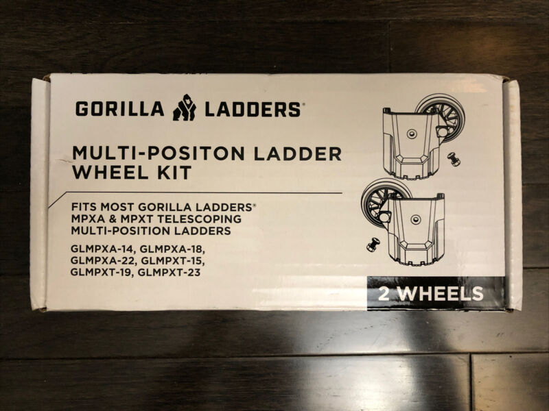 GLMPX Multi-Position Ladder Wheel Kit Easier Transport With Mounting Hardware