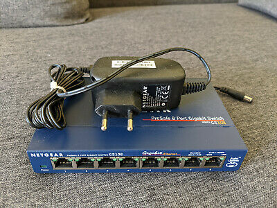 Netgear ProSafe 8 Port Gigabit Switch GS108