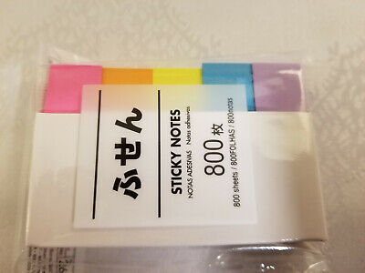 Japanese Asian Sticky Notes Tabs Colors