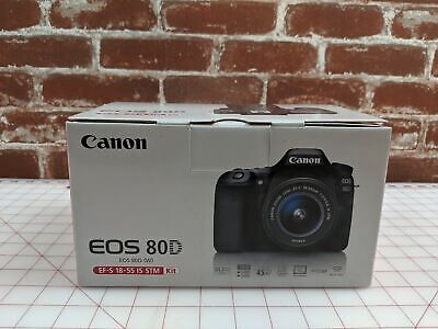 Canon EOS 80D Digital SLR Camera with 18-55mm EF-S IS STM Lens *SHIPS FAST*