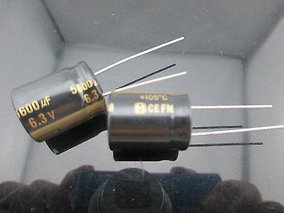 10 Japan Panasonic Fm 5600uf 6.3v 560mfd Impedance Electrolytic Capacitors