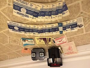 Sawyers Viewmaster Stereoscope + Light Attachment + 31 Reels