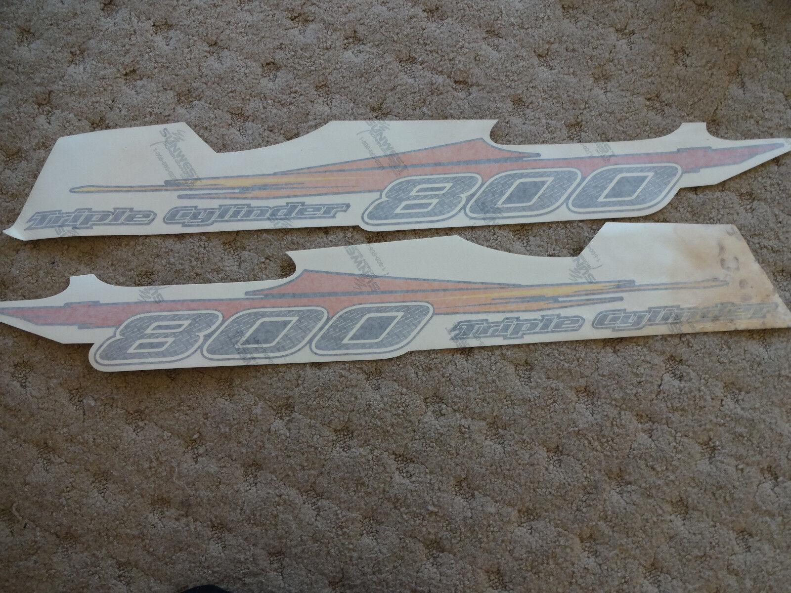 Polaris 800 Triple Cylinder Pair of Side Decals 7170253 7170254