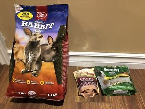 Bunny food, treats and accessories
