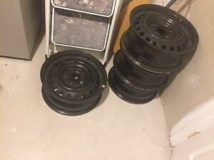 15'.  5x114.3   Steel rims 4. Like new