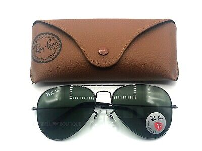 Ray-Ban Aviator Sunglasses Gunmetal Frame / Green Polarized Lenses RB3025 (Ray Ban Aviator 58mm Polarized)