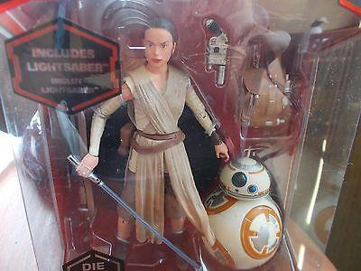 """Disney Star Wars Rey Elite Die Cast Black Series 6"""" Figure SDCC RETIRED"""
