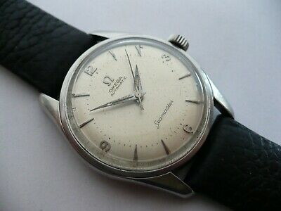 SUPER! VTG OMEGA SEAMASTER MENS AUTOMATIC STAINLESS MENS WRISTWATCH~1956