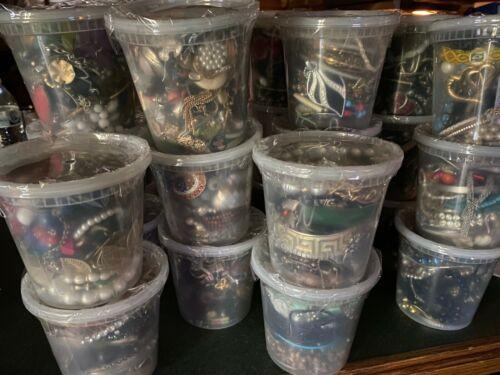 VINTAGE TO NOW ESTATE SALE FINDS 24oz Jar of Jewelry Grab Bag Random Unsorted