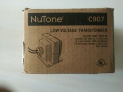 Nutone Low Voltage Transformer C907 16v 30vanib