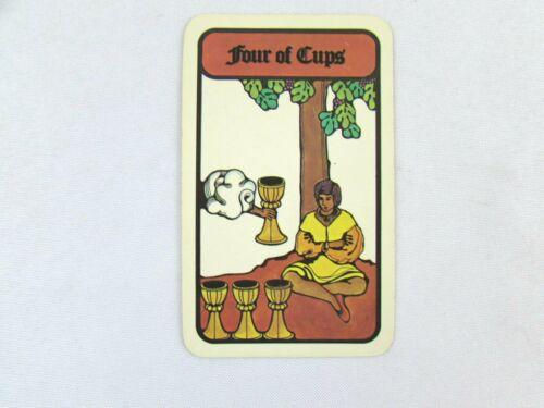 Vintage 1972 Hoi Polloi Tarot *Single Replacement Card* Four of Cups