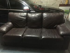 Nick Scali leather lounge- 3 seater + 2 seater Gosford Gosford Area Preview
