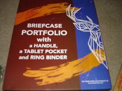 Wundermax Padfolio Portfolio Vegan Leather Binder Business Folder Resume Brown