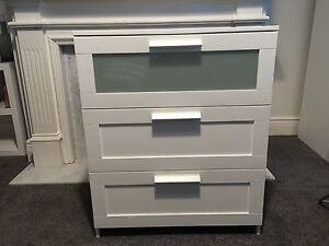 BRIMNES Chest of 3 drawers, white Canterbury Boroondara Area Preview
