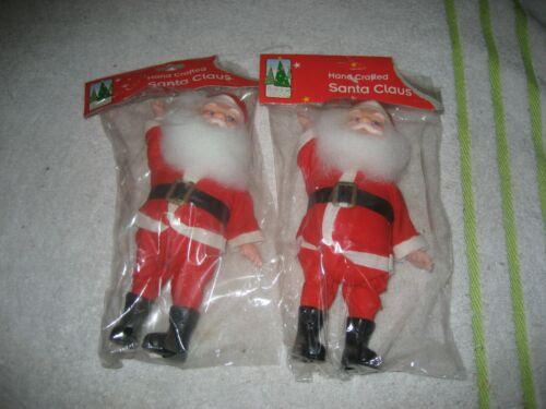 2 Vintage Santa Claus rubber face figure 1990s 8