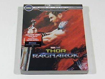 Thor Ragnarok 4K Ultra Hd   Blu Ray   Digital Steelbook  Usa  Oos Oop Rare