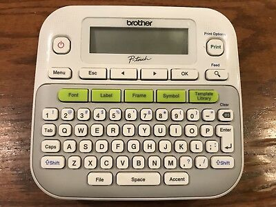 Brother P-touch Pt-d210 Electronic Labeling System Label Maker Writer Printer