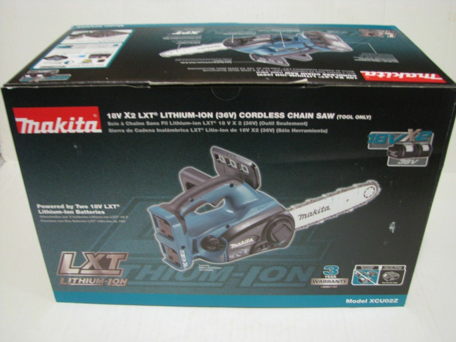 "Makita XCU02Z 18V X2  LXT Lithium Ion Cordless 12"" Chainsaw"