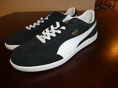 Puma Liga Suede shoes Men's new sneakers 341466 58 black White Size 13