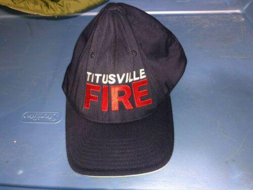TITUSVILLE Florida FIRE Dept Hat Cap Size Large XLarge