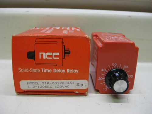 New NCC Ametek T1K-00120-461 1.2-120 Sec 120V Solid State Timer Time Delay Relay