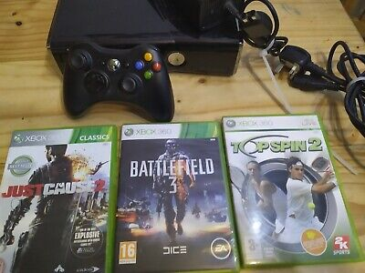 Xbox 360 S Slimline 500gb Console Bundle With Games Factory Reset. Free Postage.