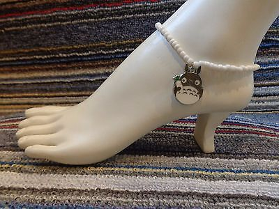 TOTORO kiki enamel charm ankle bracelet beads anklet beach stretchy handmade