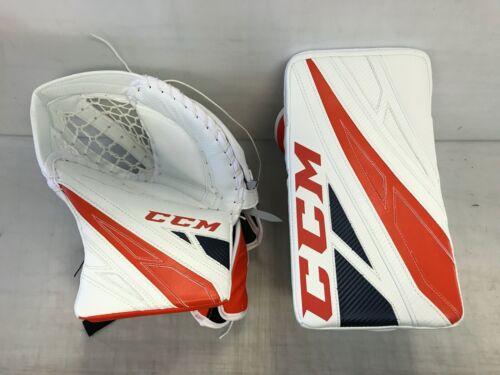 CCM EFLEX 4 Pro Stock Goalie Glove Set Oilers WELLS 9183