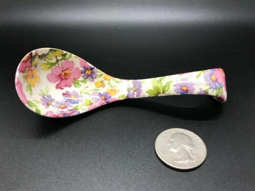 James Kent Ltd. DU BARRY Chintz Mayonnaise Spoon Ladle - Excellent Condition