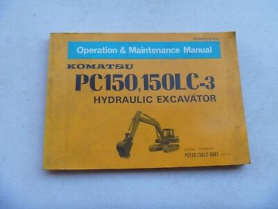 Komatsu Pc150-3 Pc150lc-3 Excavator Owner Operator Maintenance Manual