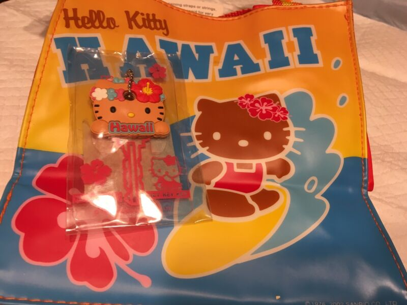 Awesome Vintage 2002 Sanrio Hello Kitty Hawaii Set Little Purse & Key Cover NIP