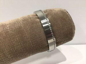 Nuevo-Pulsera-Esclava-Bracelet-Acero-Steel-With-Swarovski