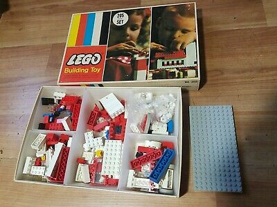 Vintage 1960's Lego Building Toy #205 Beginner Set with Box - Decent Shape