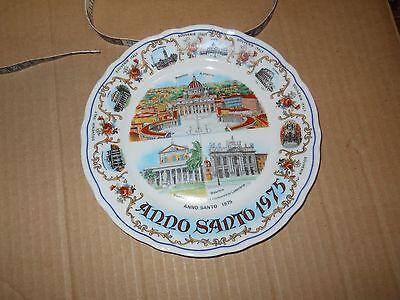 Decorative Plate: Anno Santo 1975, Souvenir Italy, marked Bavaria, Germany