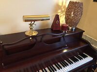 Fall registration for piano lessons day and evenings