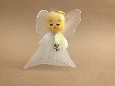 vintage Angel christmas pipe cleaner decoration .