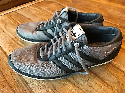 Adidas Vespa Mens Trainers - Size UK 9 -Grey & Black