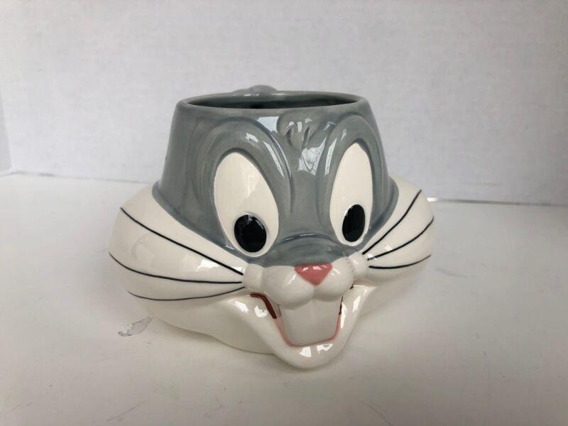Warner Brothers Bugs Bunny Ceramic Mug Cup Looney Tunes 3D Bugs Bunny Mug