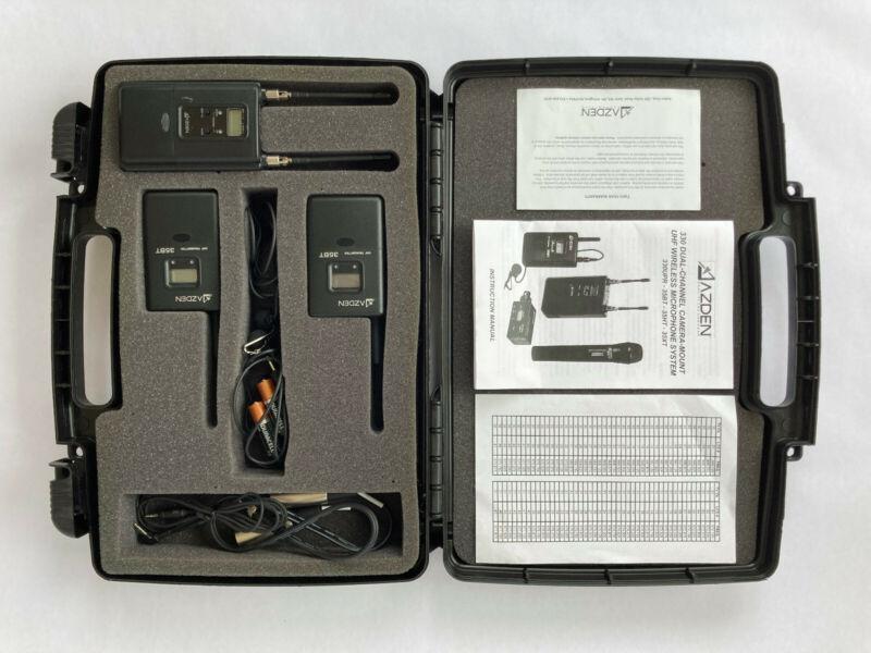 Azden 330 Series UHF Wireless Lavalier Microphone System, Dual Channel Receiver