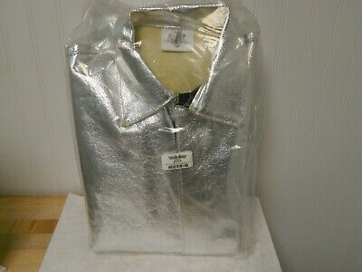 Pro-safe Aluminized Coverall 38 To 40 Chestsize M Silver Snap 54164173
