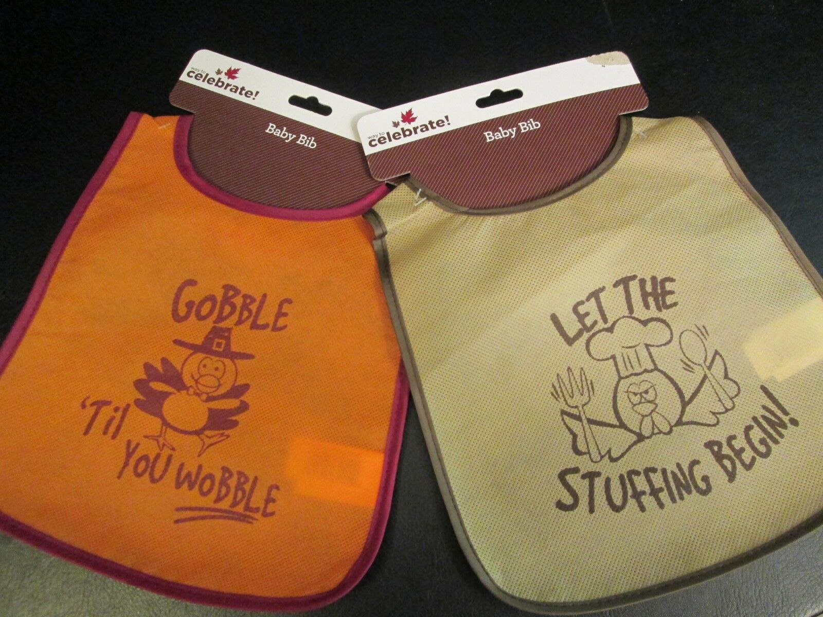thanksgiving theme baby bibs set of 2