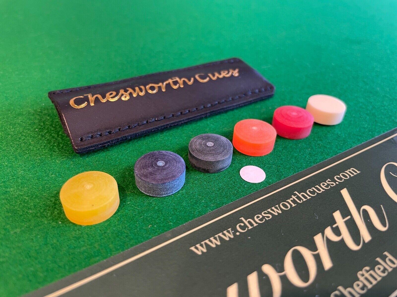 Taom Break and Jump Tip 14mm Snooker/Pool/Billiard Tips, Chesworth Cues, Sheffield