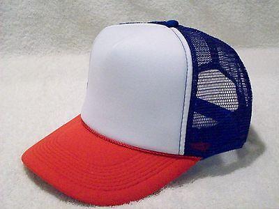 NEW RED WHITE BLUE FOAM FRONT SUMMER MESH TRUCKER STYLE HAT OTTO CAP 39-169 (Blue Summer Hat)