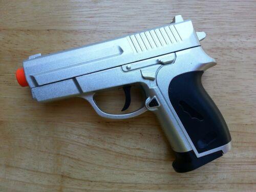 Airsoft Gun ZM01 Black/Silver Diecast Metal Alloy Spring Pistol 6mm BB BBs