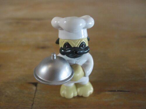 GANZ Webkinz PVC Chef Pug Dog Figurine Collectible Waiter