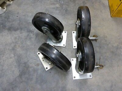 Albion Usa 8 1400 Series Medium Duty Casters 26818 Swivel Lot Of 4